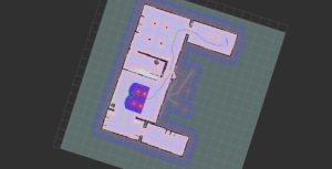 Roboto sudaryta kambario trajektorija KTU